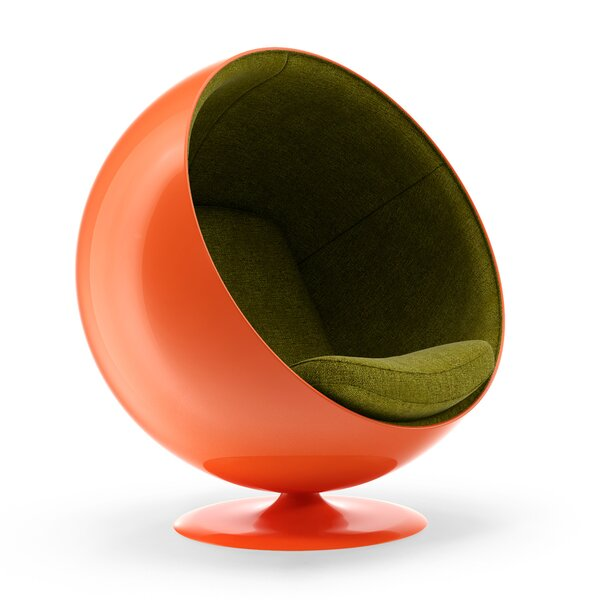 Higgins Swivel Balloon Chair by Orren Ellis