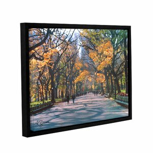Central Park by George Zucconi Framed Painting Print on Wrapped Canvas by ArtWall