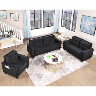 Juliella 3 Piece Velvet Living Room Set by Latitude Run®