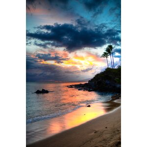 Kapalua Maui Sunset Hawaiian Islands by Kelly Wade Photographic Print on Wrapped Canvas by Hadley House Co