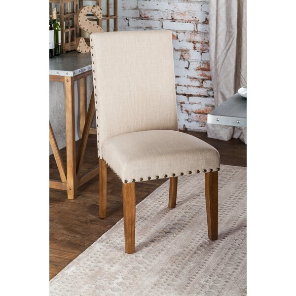 Arthur Upholstered Side Chair in Beige (Set of 2) by Laurel Foundry Modern Farmhouse Laurel Foundry Modern Farmhouse