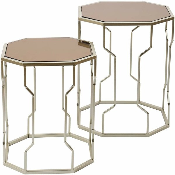 Restivo Octagon 2 Piece Nesting Tables by Everly Quinn Everly Quinn