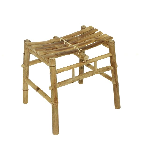 Psyllatos Bamboo Hand Crafted Curved Accent Stool by Bay Isle Home