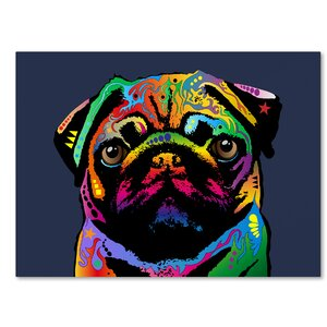 Pug Dog Graphic Art on Wrapped Canvas by Latitude Run