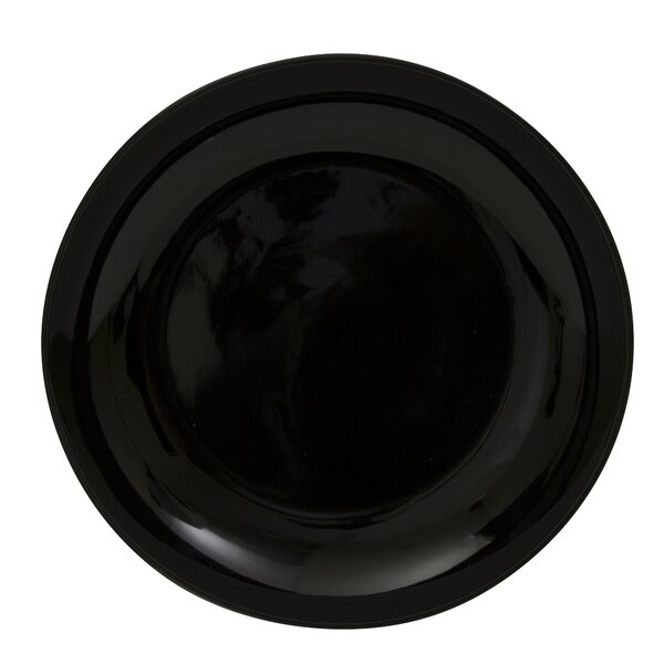 Black Coupe 12 Buffet Charger (Set of 6) by Ten Strawberry Street