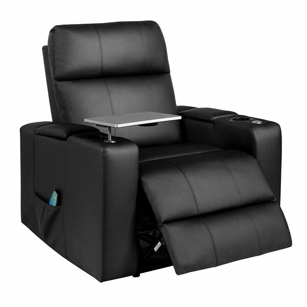 Massage Recliner Home Theater Individual Seating By Latitude Run