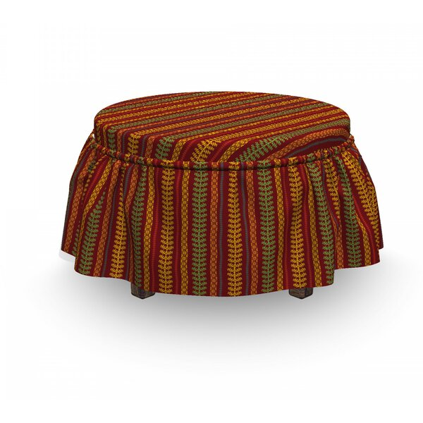 Abstract Tribal Layout Ottoman Slipcover (Set Of 2) By East Urban Home
