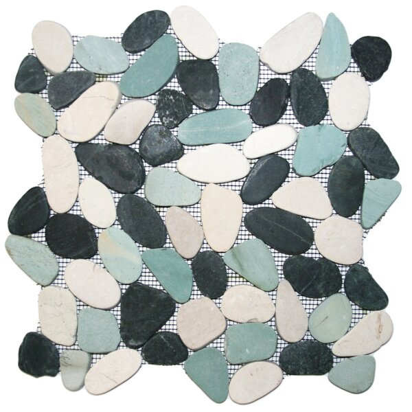Yukon Random Sized Natural Stone Mosaic Tile in Black/Gray by CNK Tile