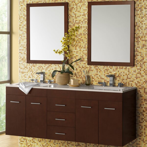 Bella 61 Double Bathroom Vanity Set with Mirror by Ronbow