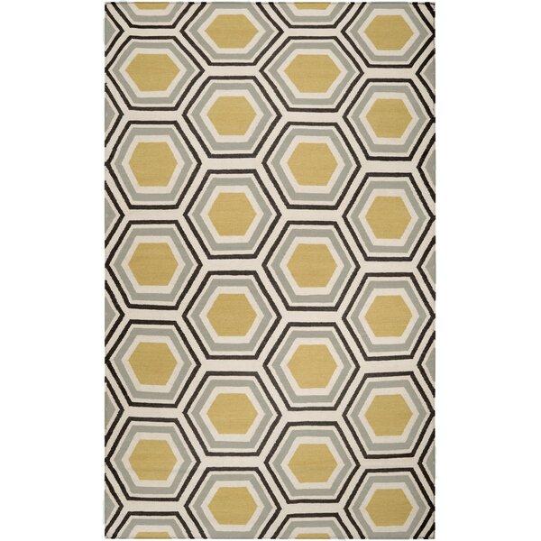 Fallon Hand Woven Wool Beige/Yellow/Black Area Rug by Jill Rosenwald Home