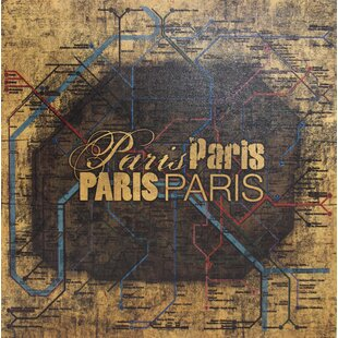 Paris Metro Map Wayfair - Paris metro map print