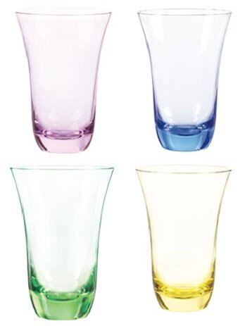 Aurora Highball Glass (Set of 4) by Qualia Glass
