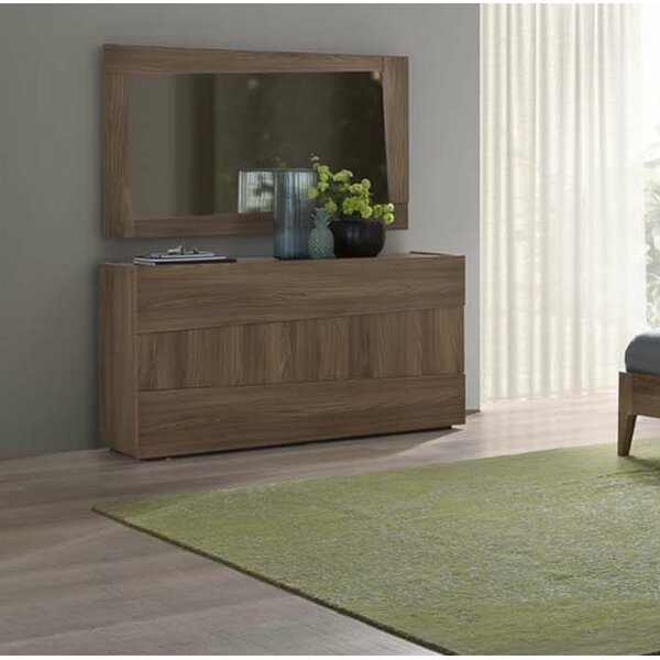 Luther 3 Drawer Chest with Mirror by Brayden Studio