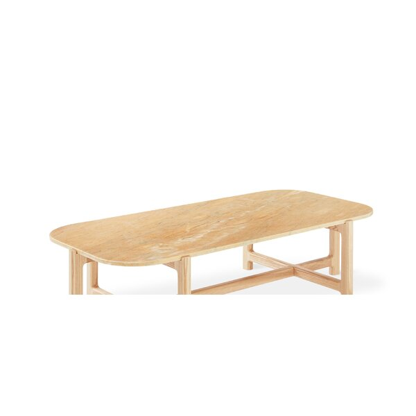 Quarry Rectangle Coffee Table with Tray Top by Gus* Modern