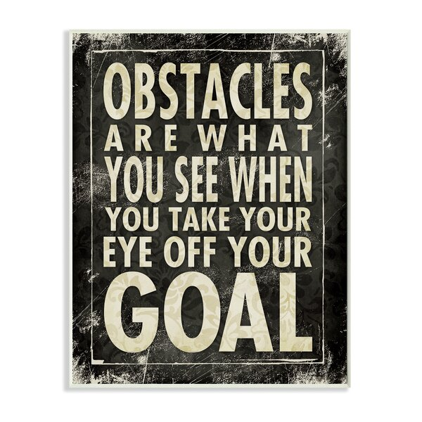 Obstacles Are What You See Textual Art Wall Plaque by Stupell Industries