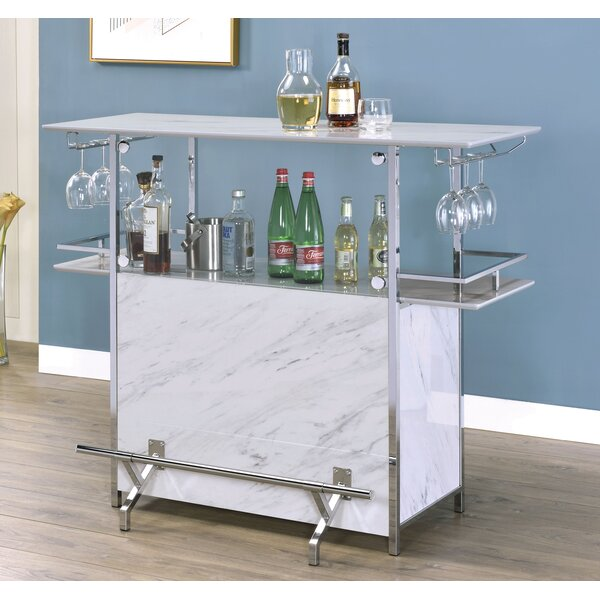 Laurin Giala Faux Marble Bar Table by Orren Ellis Orren Ellis
