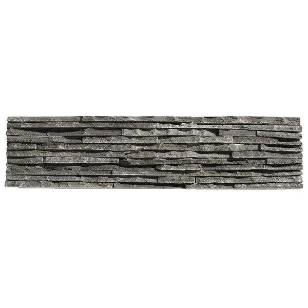 Portico Slate Random Sized Stone Splitface Tile in Black by Solistone