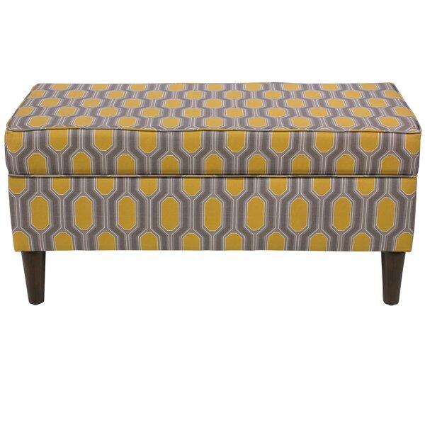 Pacheco Linen Upholstered Storage Bench by Brayden Studio