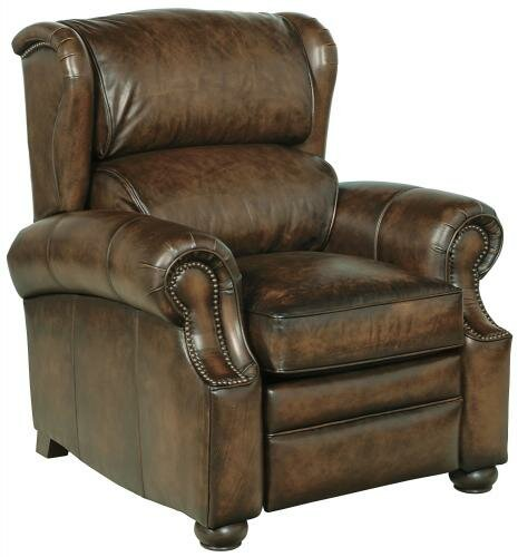 Warner Leather Manual Recliner By Bernhardt