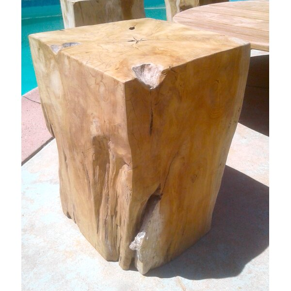 Aries Teak Side table by Bayou Breeze
