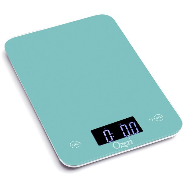 Touch Professional Digital Kitchen Scale (12 lbs Edition), Tempered Glass by Ozeri