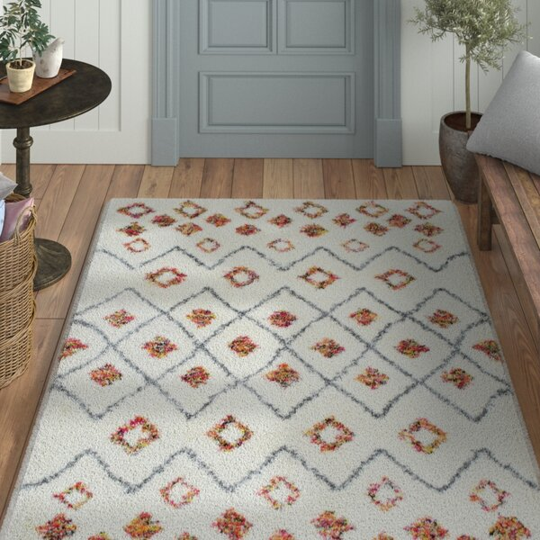 Oliver White Area Rug by Laurel Foundry Modern Farmhouse