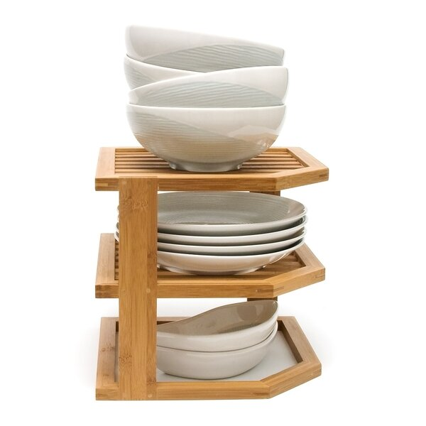 Bamboo 3 Tier Corner Kitchen Shelving Rack by Lipper International