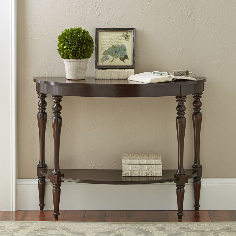 Birch lane hassan demilune console table reviews wayfair - White demilune console table ...