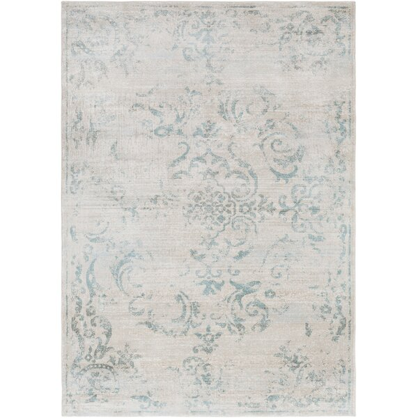 Cary Blue/White Area Rug by Charlton Home
