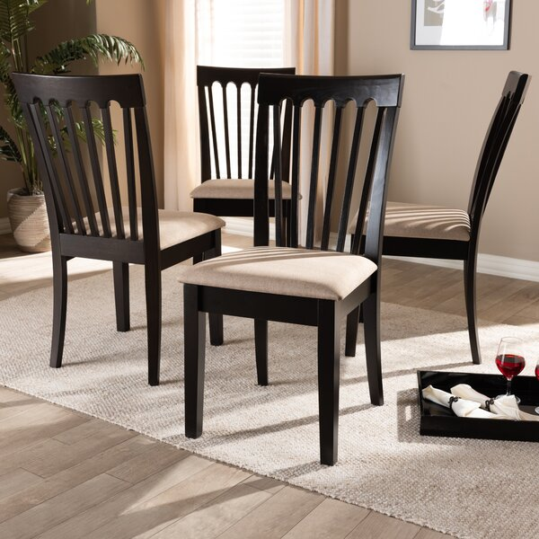 Servantes Solid Wood Dining Chair (Set of 4) by Canora Grey