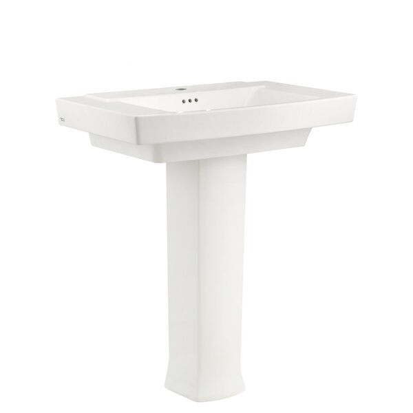 Town Square Rectangular Pedestal Bathroom Sink wit