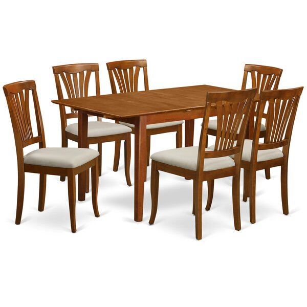 Cartley 7 Piece Extendable Dining Set by Red Barrel Studio Red Barrel Studio