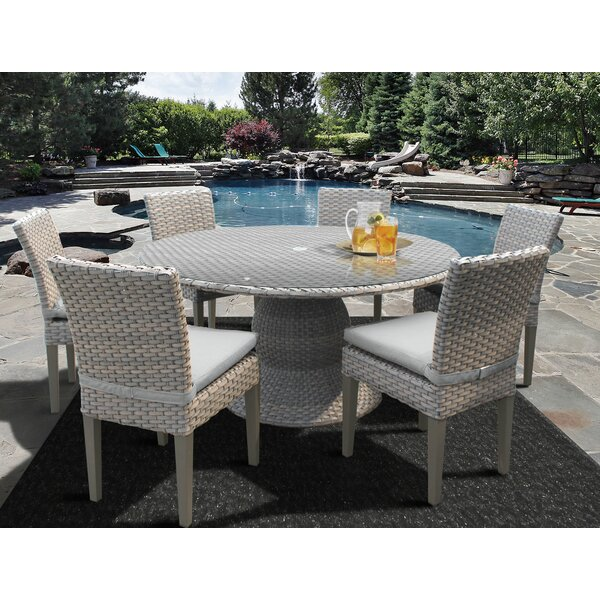 Meeks 7 Piece Dining Set by Rosecliff Heights