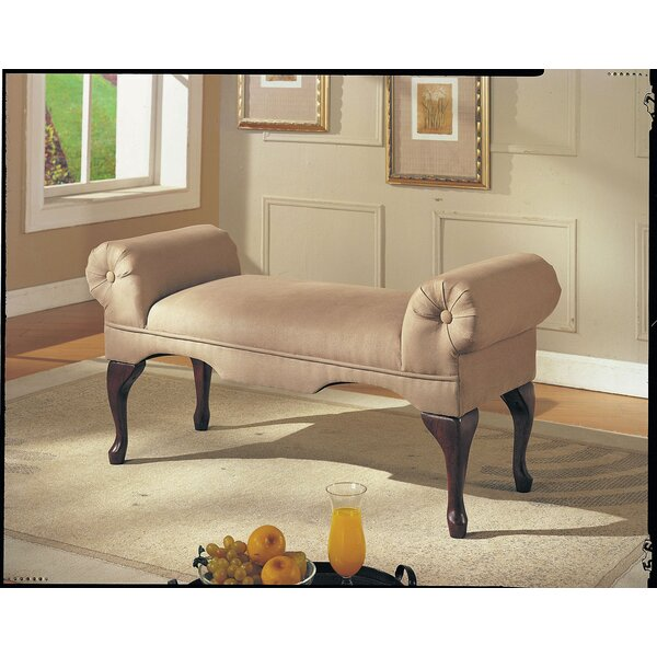 Fort Ransom Rolled Arm Upholstered Bench by One Allium Way