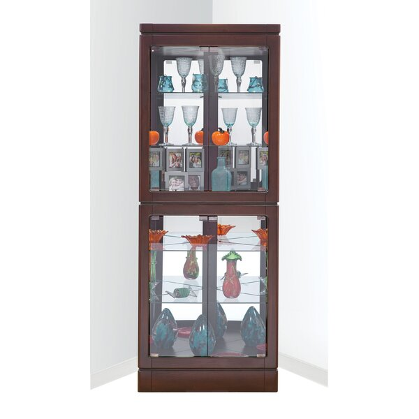 Wembley Lighted Corner Curio Cabinet by Red Barrel Studio