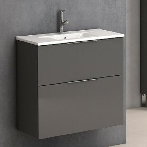 Marius 25 Wall-Mounted Single Bathroom Vanity Set by Orren Ellis