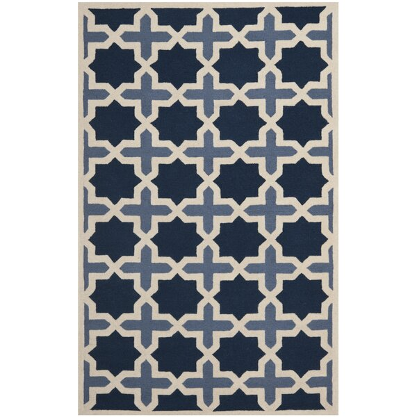 Martins Dark Blue &  Area Rug by Wrought Studio