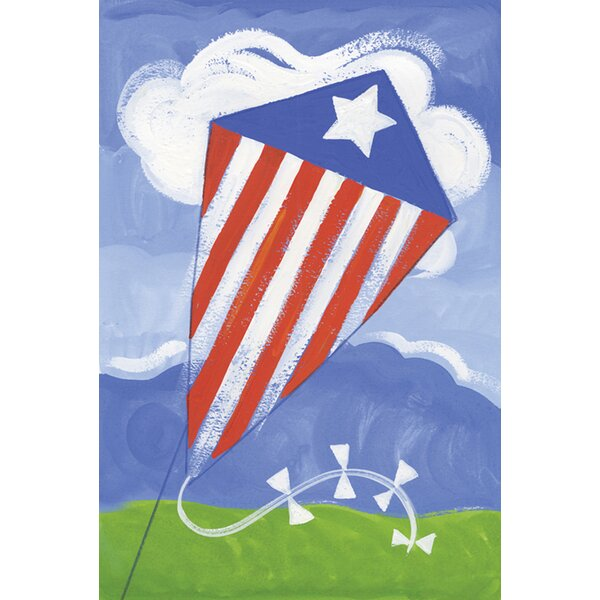 Patriotic Kite 2-Sided Garden flag by Toland Home Garden