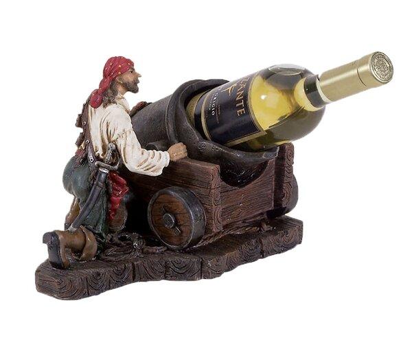 Bryd Pirate 1 Tabletop Wine Bottle Rack by Longshore Tides