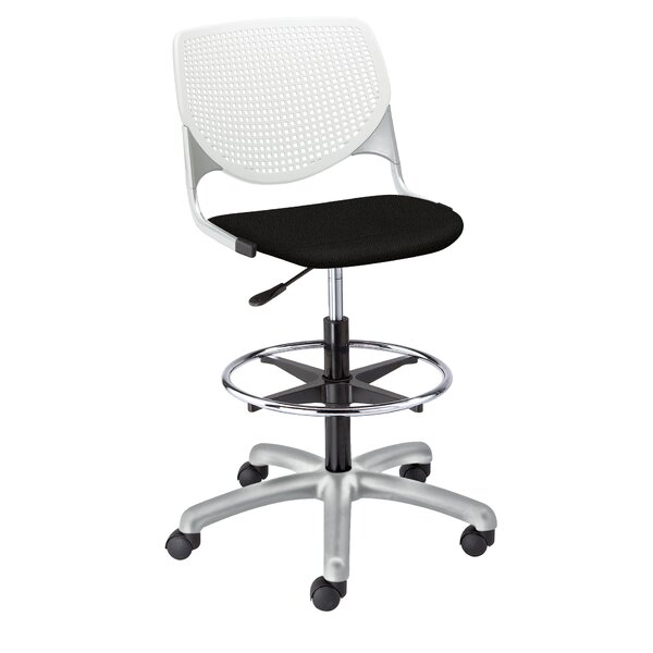 Kool Poly Height Adjustable Lab Stool with Perforated Back