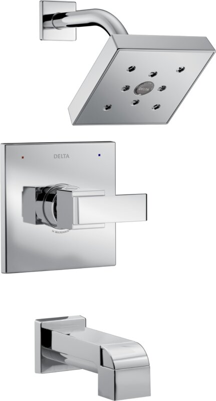Delta Ara Tub and Shower Trim with Lever Handle and Monitor ...