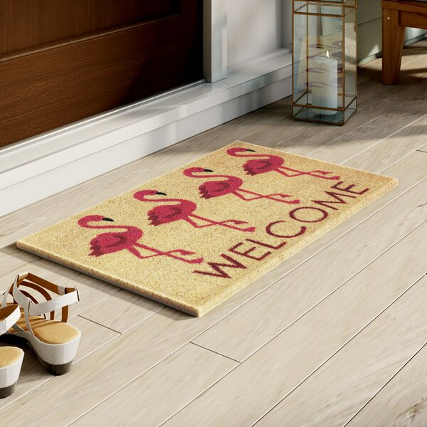Sinclair Flamingo Welcome Doormat by Bay Isle Home