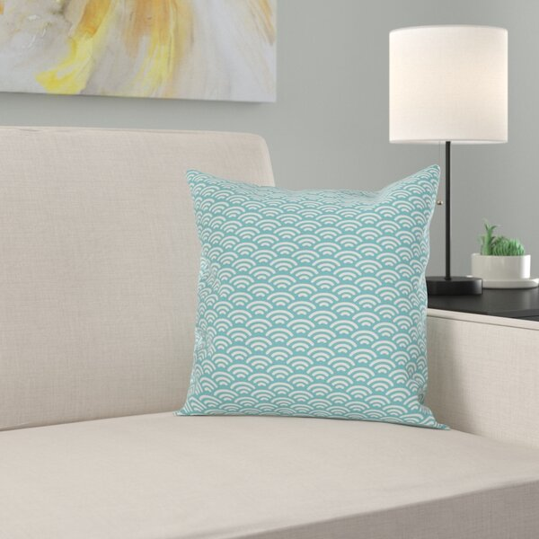Bold Water Fishing Square Pillow Cover by East Urban Home