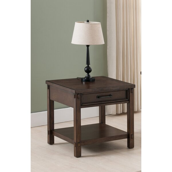 Drogo End Table with Storage by Gracie Oaks