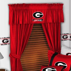 NCAA 88 Georgia Bulldogs Curtain Valance by Sports Coverage Inc.