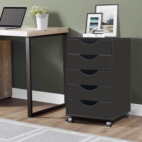 Alexisia 5-Drawer Mobile Vertical Filing Cabinet