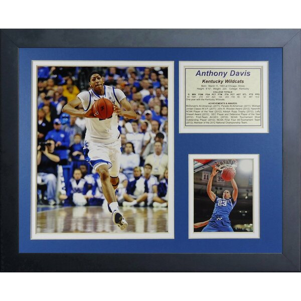 Anthony Davis Kentucky Wildcats Framed Memorabilia by Legends Never Die