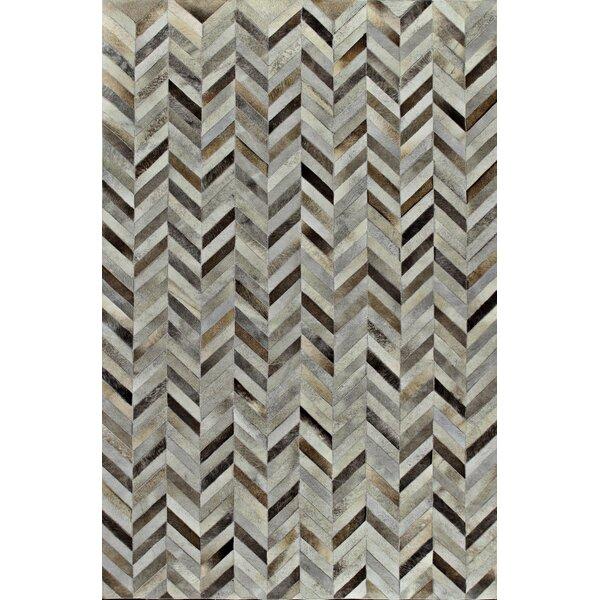 Sari Silkhand Woven Black/Gray Area Rug by Bashian