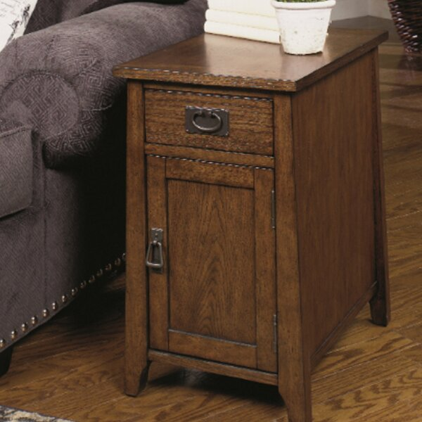 Landrienne End Table with Storage by Loon Peak Loon Peak