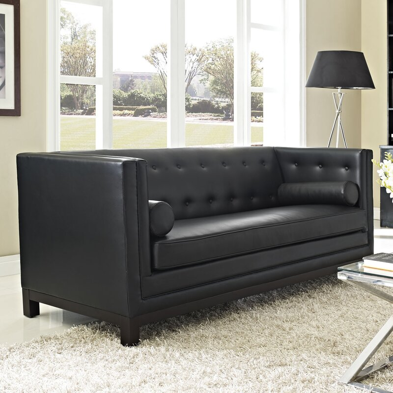 Stately Leather Chesterfield Sofa Reviews Birch Lane - Leather chesterfield chairs